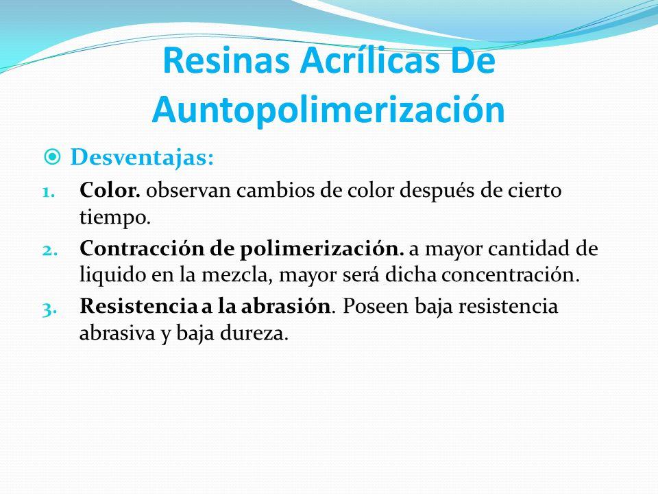 Resinas Acrílicas De Auntopolimerización