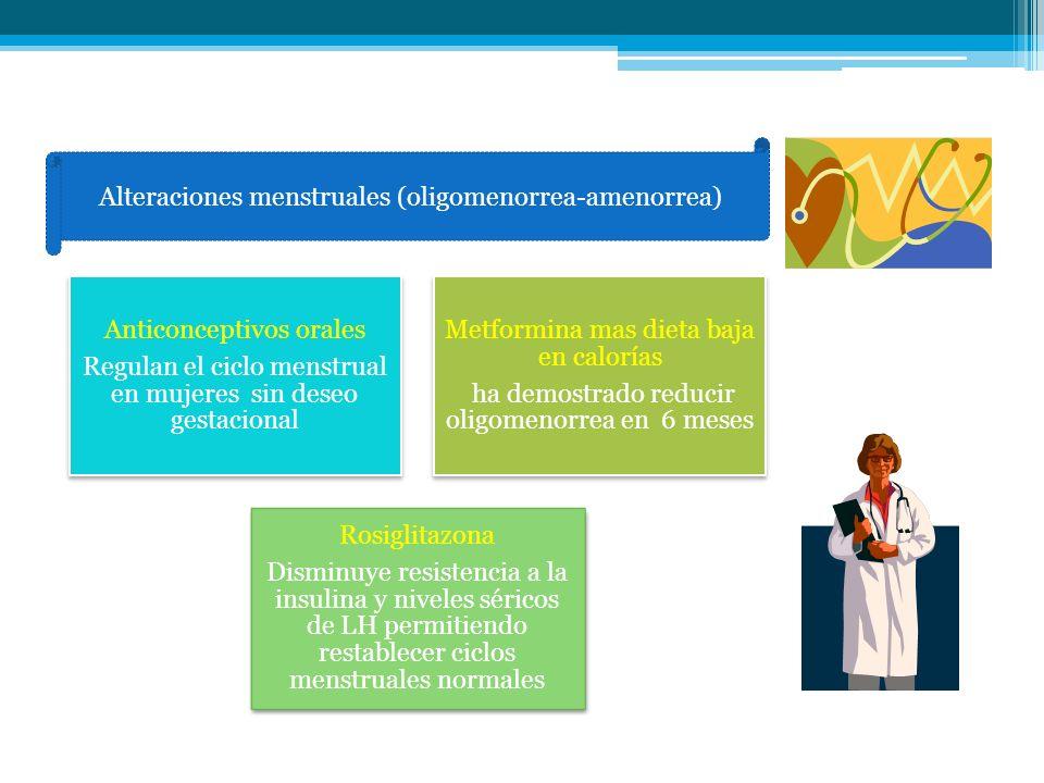 nas Alteraciones menstruales (oligomenorrea-amenorrea)