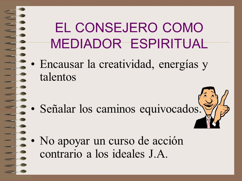 EL CONSEJERO COMO MEDIADOR ESPIRITUAL