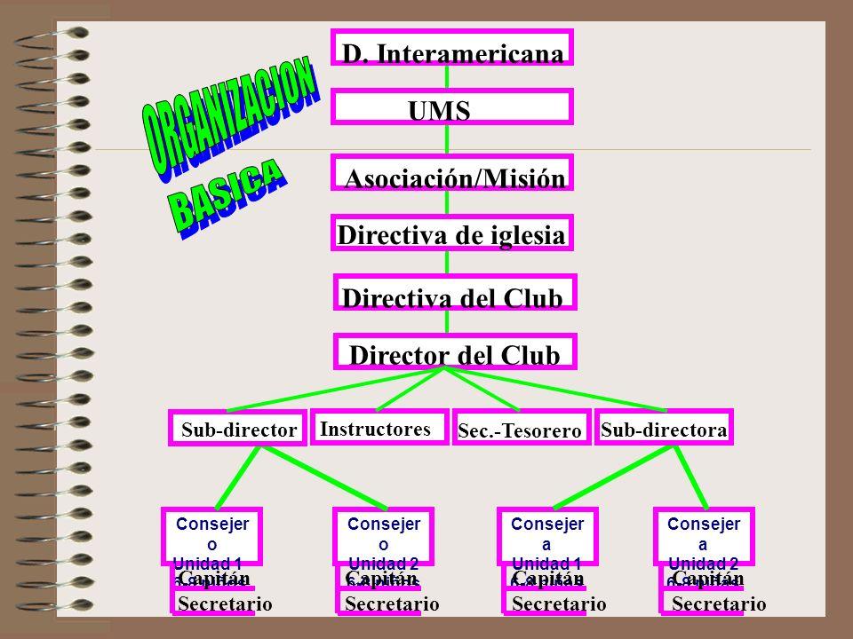 ORGANIZACION BASICA D. Interamericana UMS Asociación/Misión