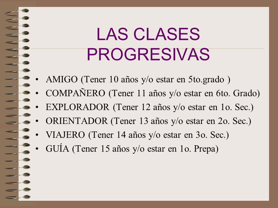 LAS CLASES PROGRESIVAS