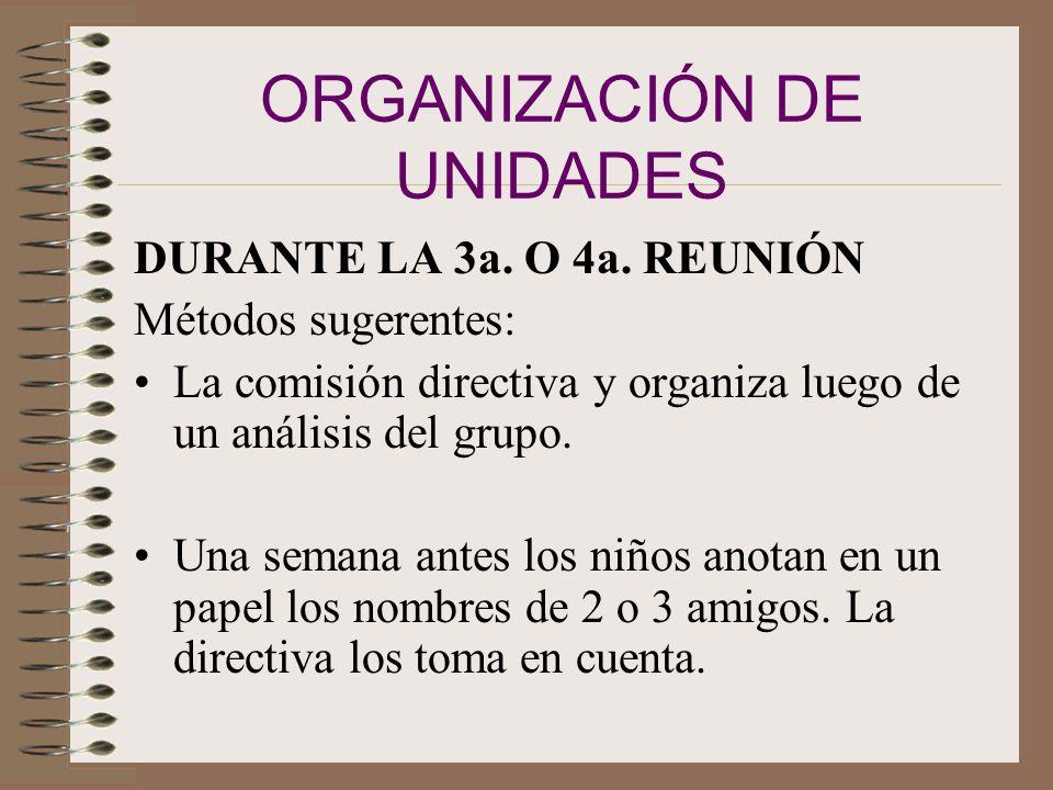 ORGANIZACIÓN DE UNIDADES