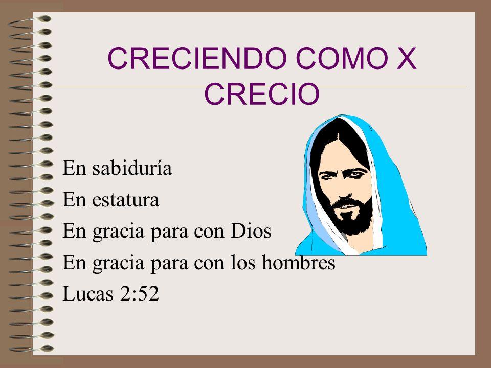 CRECIENDO COMO X CRECIO