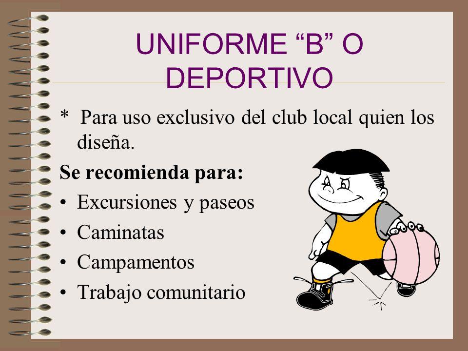 UNIFORME B O DEPORTIVO