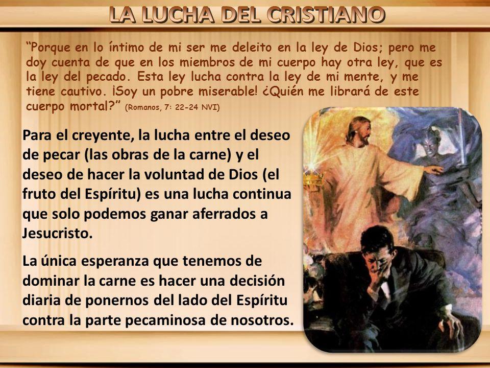 LA LUCHA DEL CRISTIANO