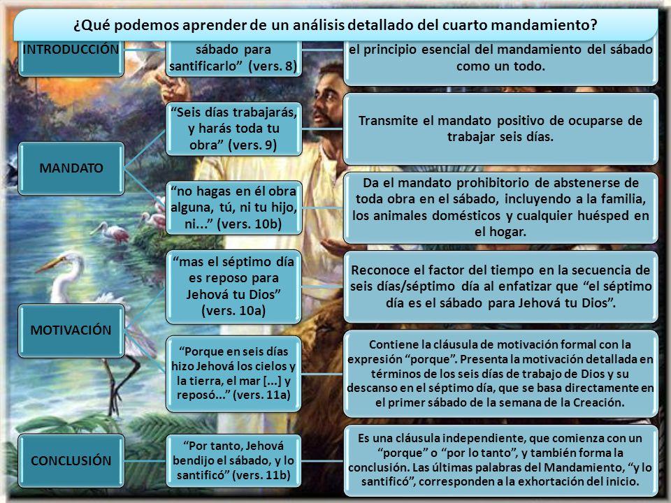 ¿Qué podemos aprender de un análisis detallado del cuarto mandamiento