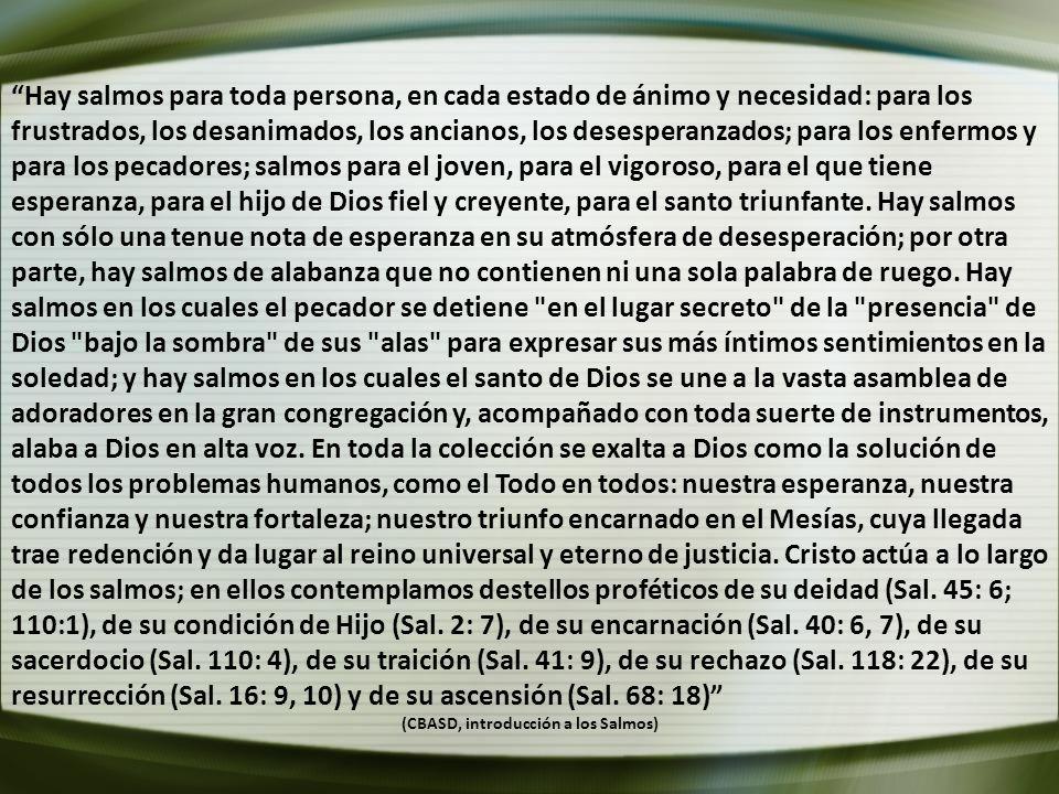 (CBASD, introducción a los Salmos)