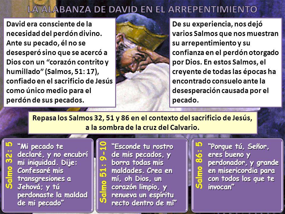 LA ALABANZA DE DAVID EN EL ARREPENTIMIENTO