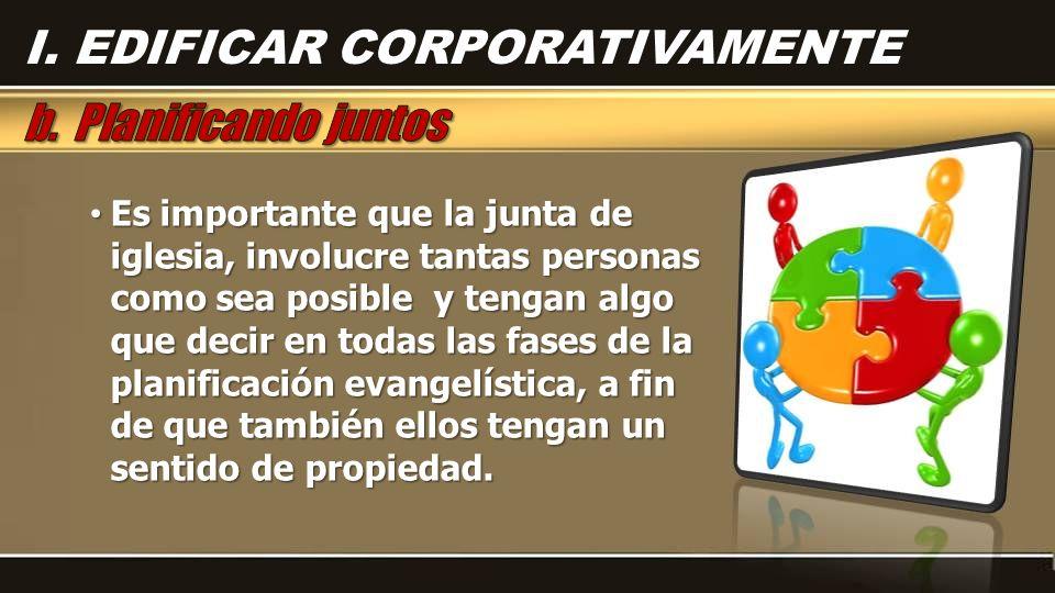 I. EDIFICAR CORPORATIVAMENTE