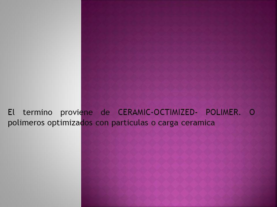 El termino proviene de CERAMIC-OCTIMIZED- POLIMER