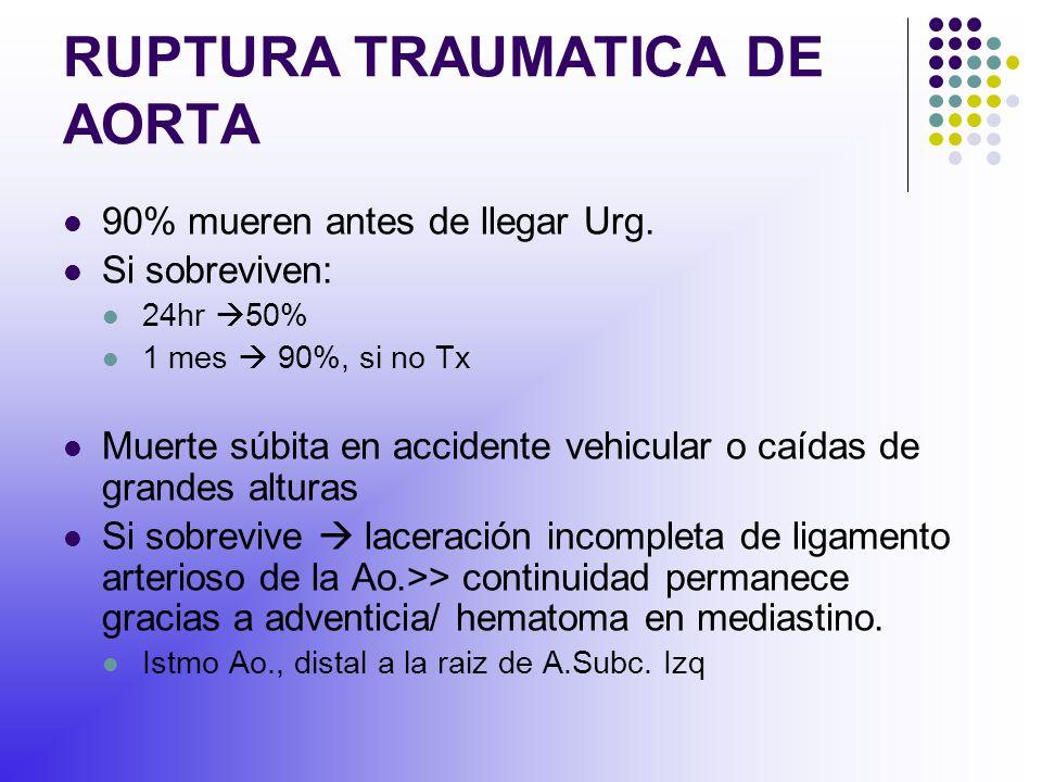 RUPTURA TRAUMATICA DE AORTA