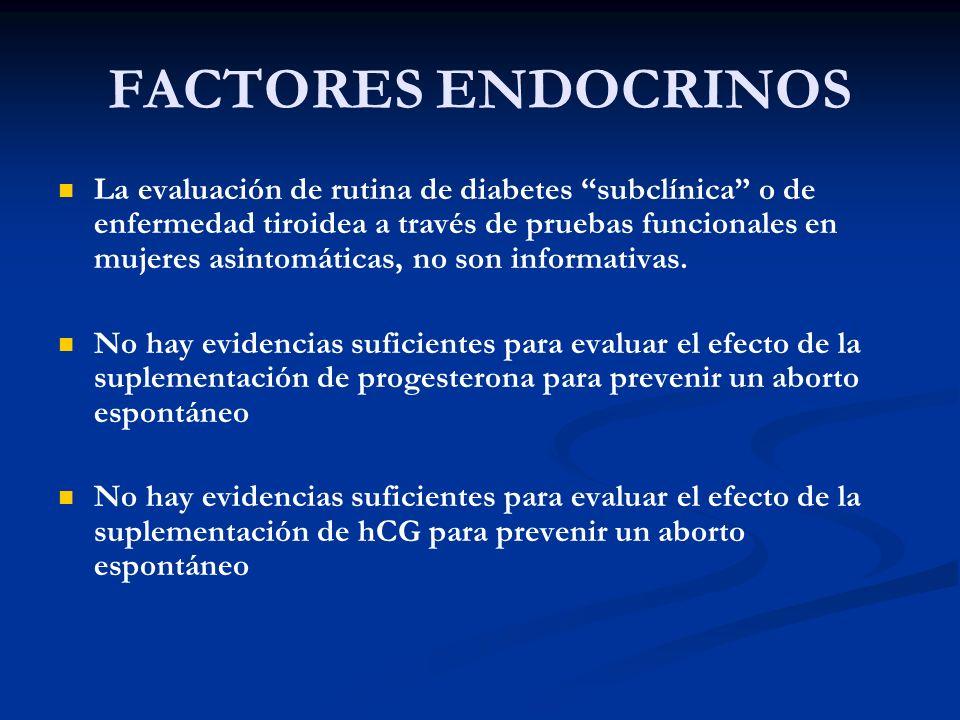 FACTORES ENDOCRINOS