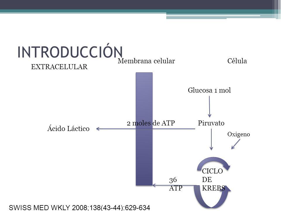 INTRODUCCIÓN Membrana celular Célula EXTRACELULAR Glucosa 1 mol