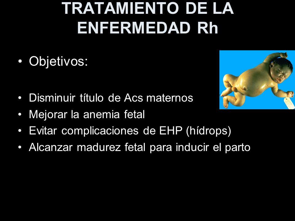 TRATAMIENTO DE LA ENFERMEDAD Rh
