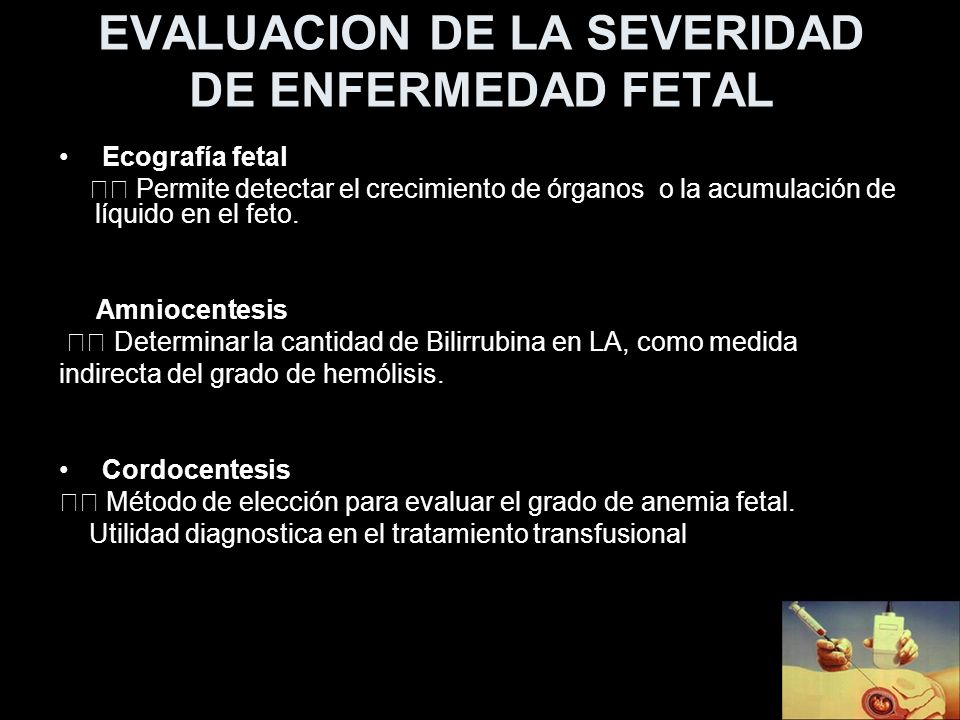 EVALUACION DE LA SEVERIDAD DE ENFERMEDAD FETAL