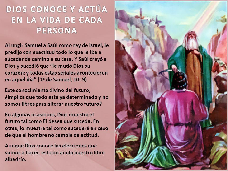 DIOS CONOCE Y ACTÚA EN LA VIDA DE CADA PERSONA