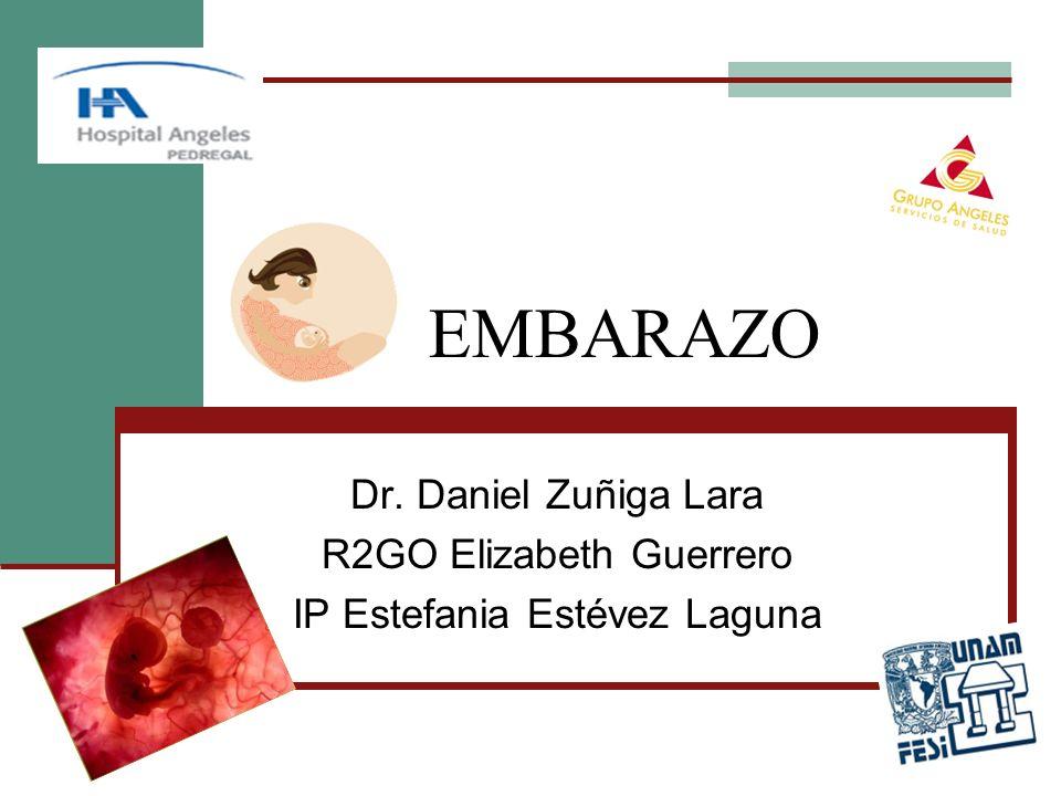 EMBARAZO Dr. Daniel Zuñiga Lara R2GO Elizabeth Guerrero