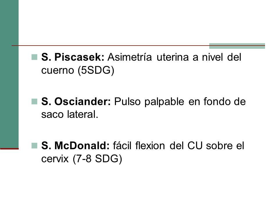 S. Piscasek: Asimetría uterina a nivel del cuerno (5SDG)