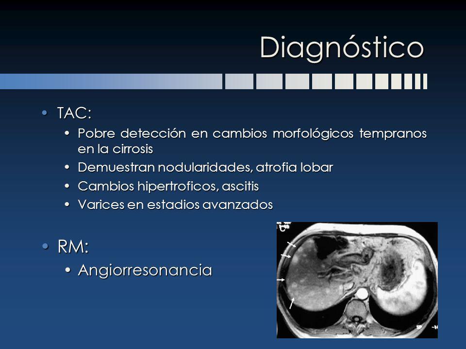 Diagnóstico RM: TAC: Angiorresonancia