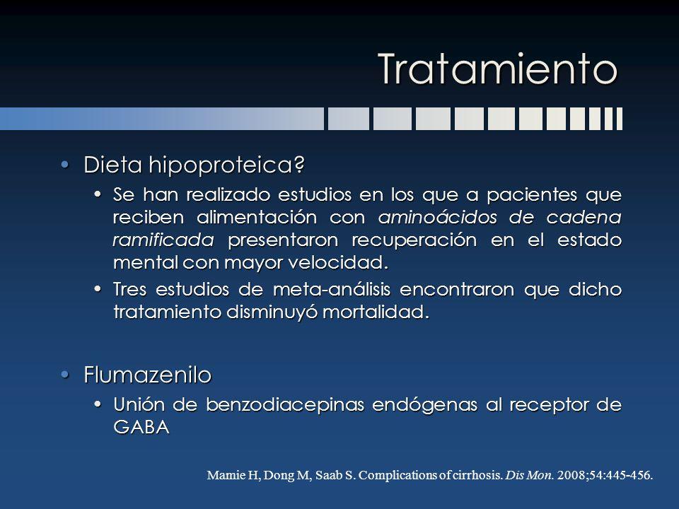 Tratamiento Dieta hipoproteica Flumazenilo