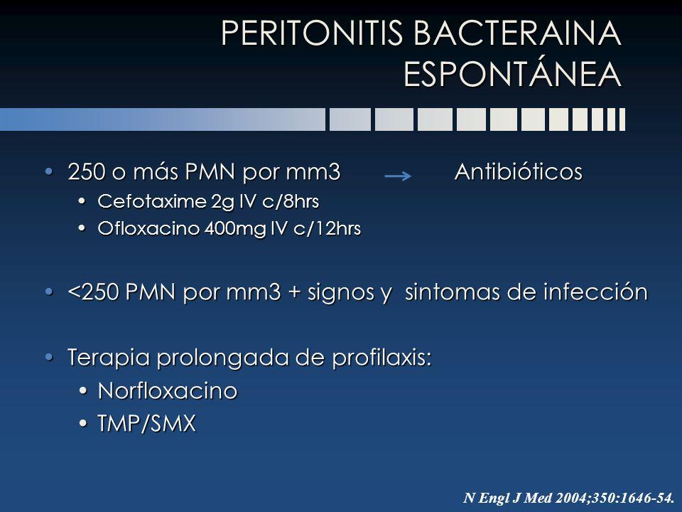 PERITONITIS BACTERAINA ESPONTÁNEA