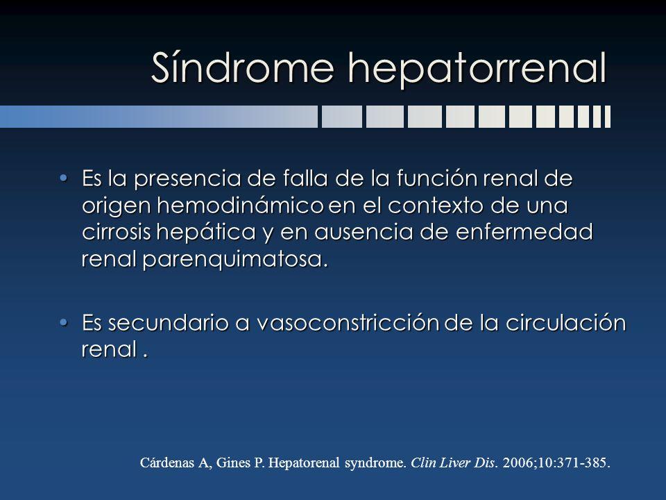 Síndrome hepatorrenal
