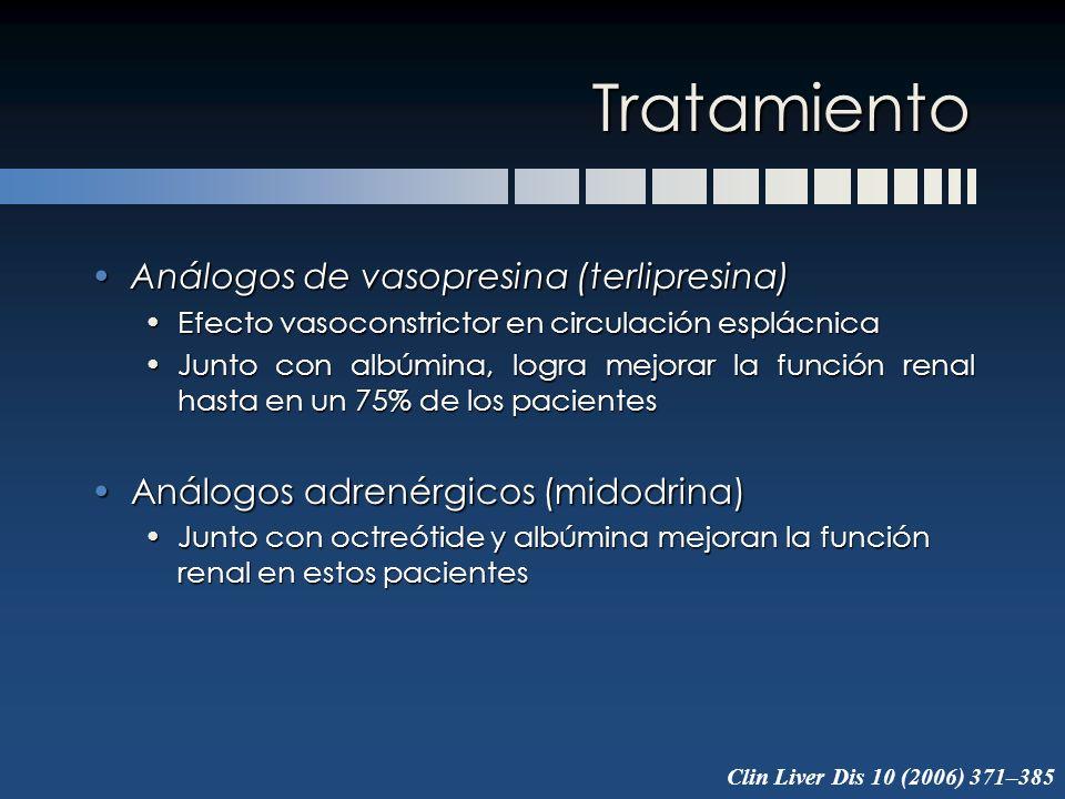 Tratamiento Análogos de vasopresina (terlipresina)