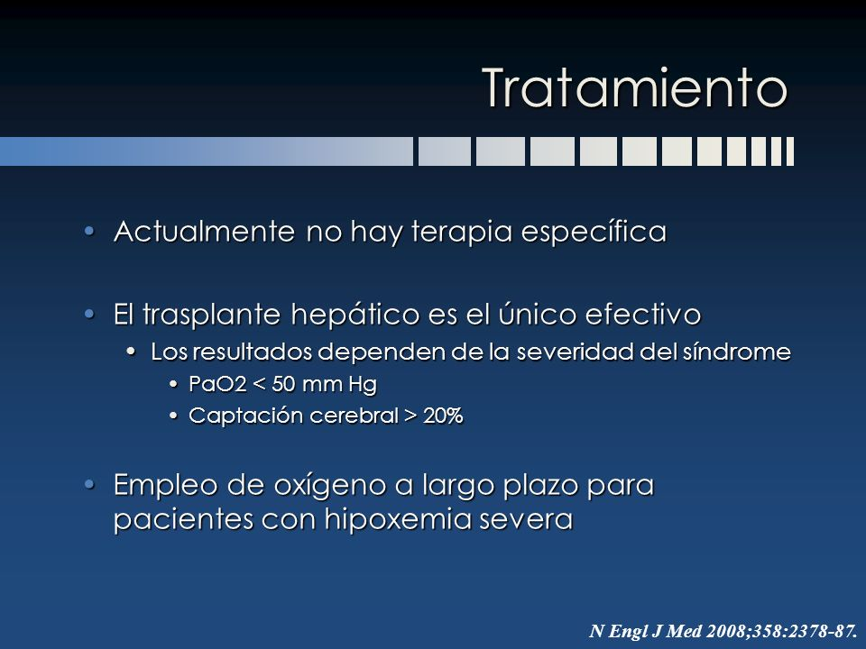 Tratamiento Actualmente no hay terapia específica