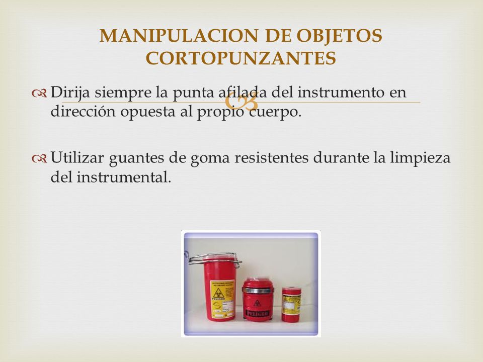 MANIPULACION DE OBJETOS CORTOPUNZANTES
