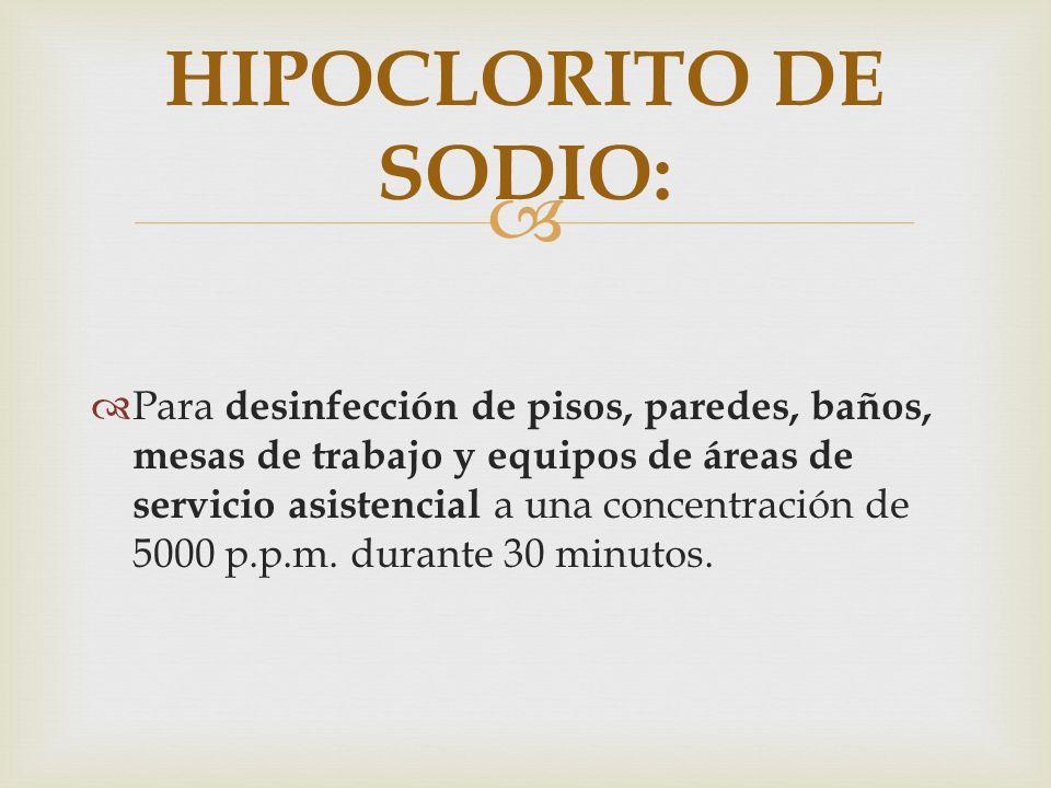 HIPOCLORITO DE SODIO: