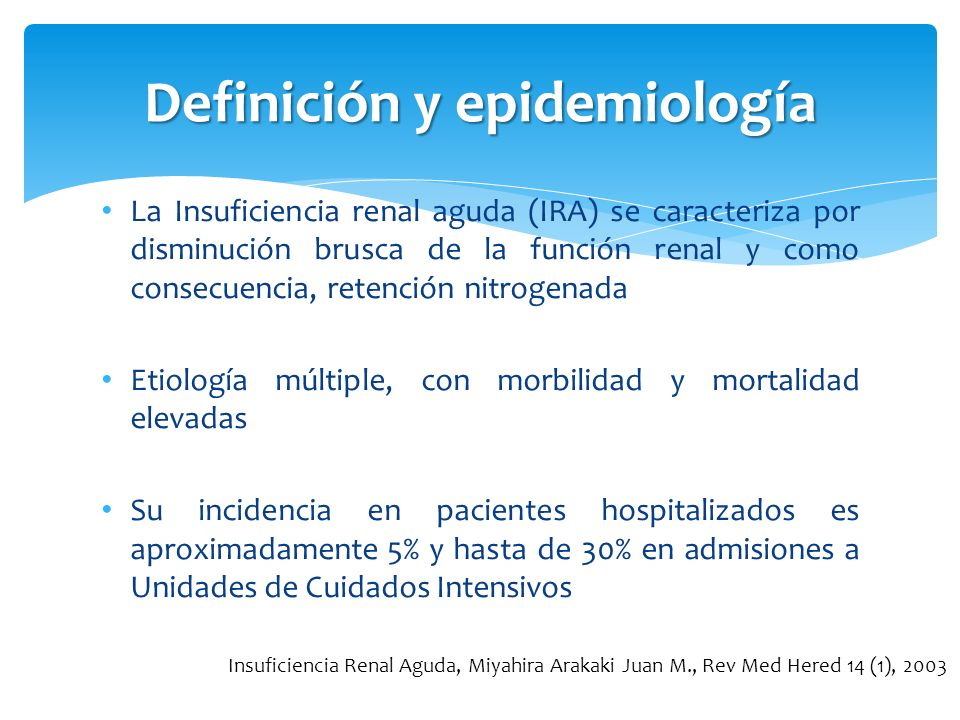 Definición y epidemiología