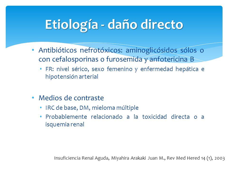 Etiología - daño directo