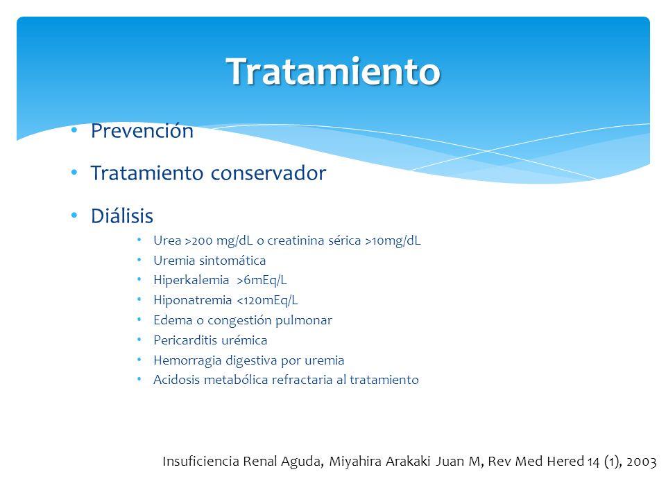 Tratamiento Prevención Tratamiento conservador Diálisis