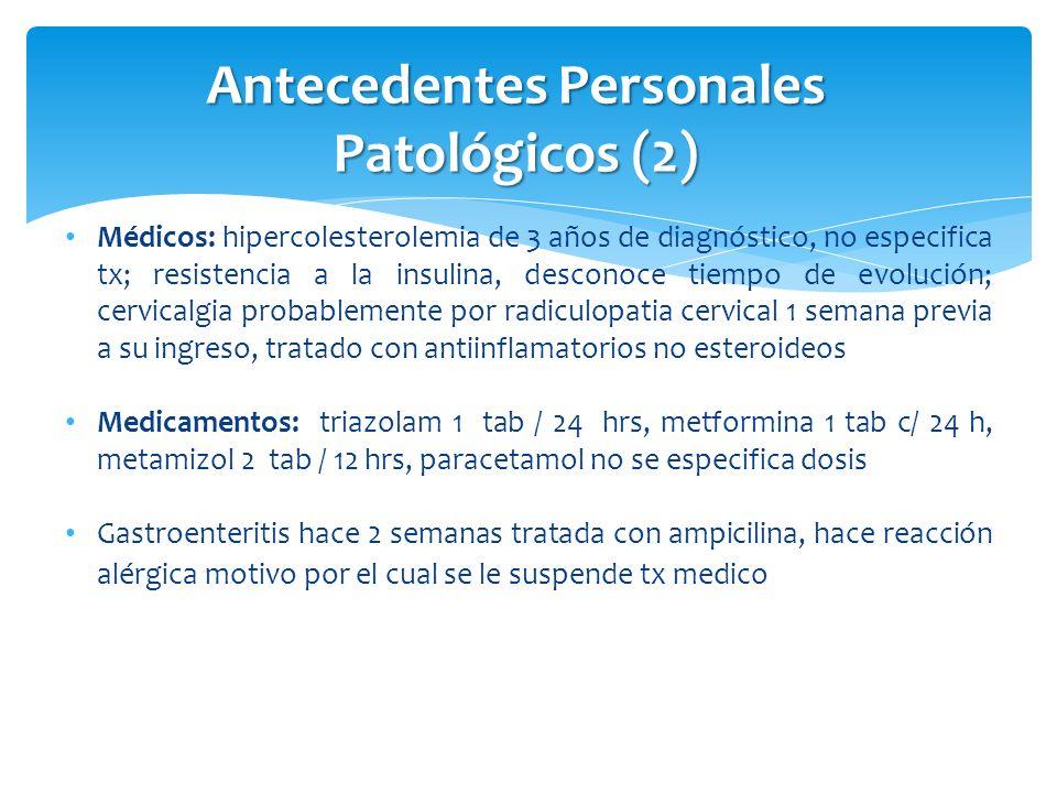 Antecedentes Personales Patológicos (2)