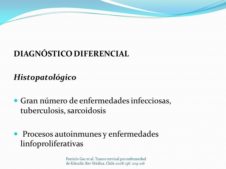 DIAGNÓSTICO DIFERENCIAL Histopatológico