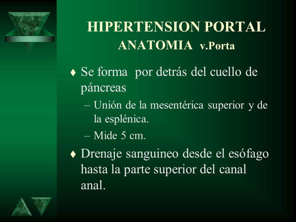 HIPERTENSION PORTAL ANATOMIA v.Porta