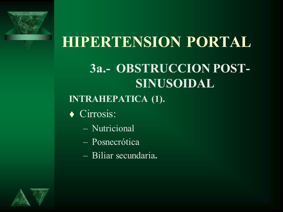 3a.- OBSTRUCCION POST- SINUSOIDAL