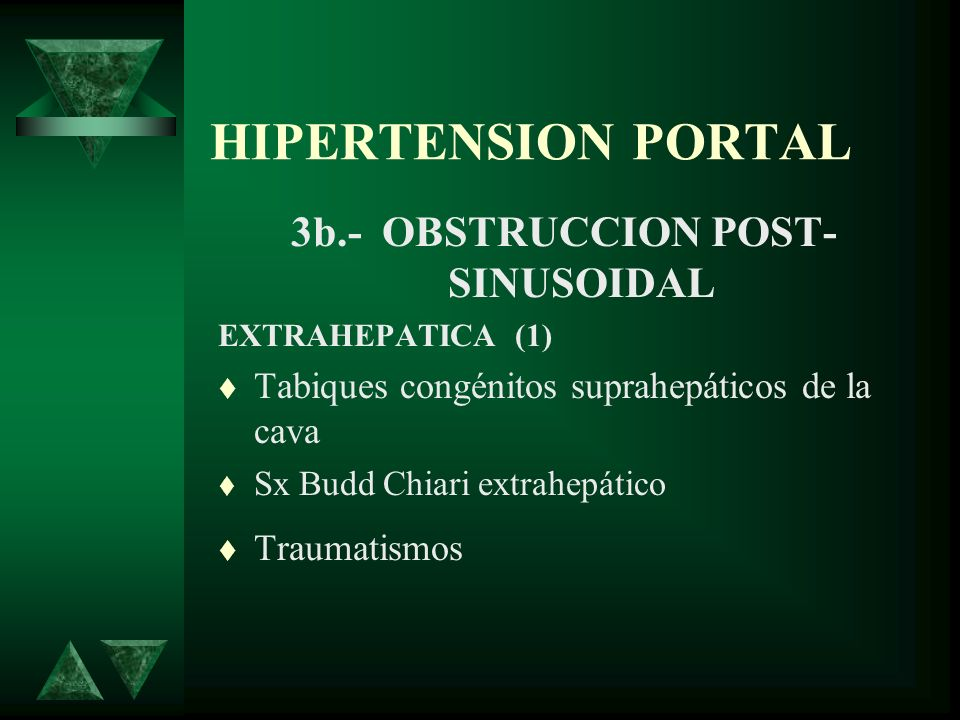 3b.- OBSTRUCCION POST-SINUSOIDAL