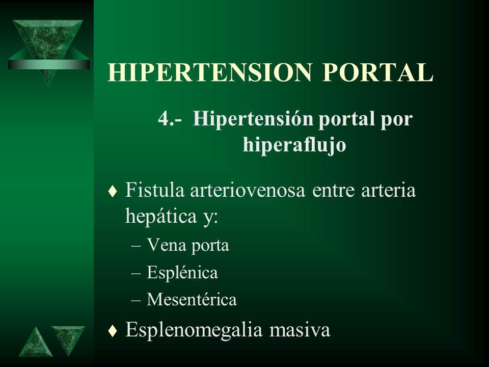 4.- Hipertensión portal por hiperaflujo