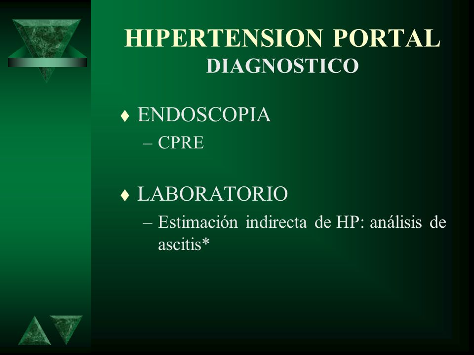 HIPERTENSION PORTAL DIAGNOSTICO