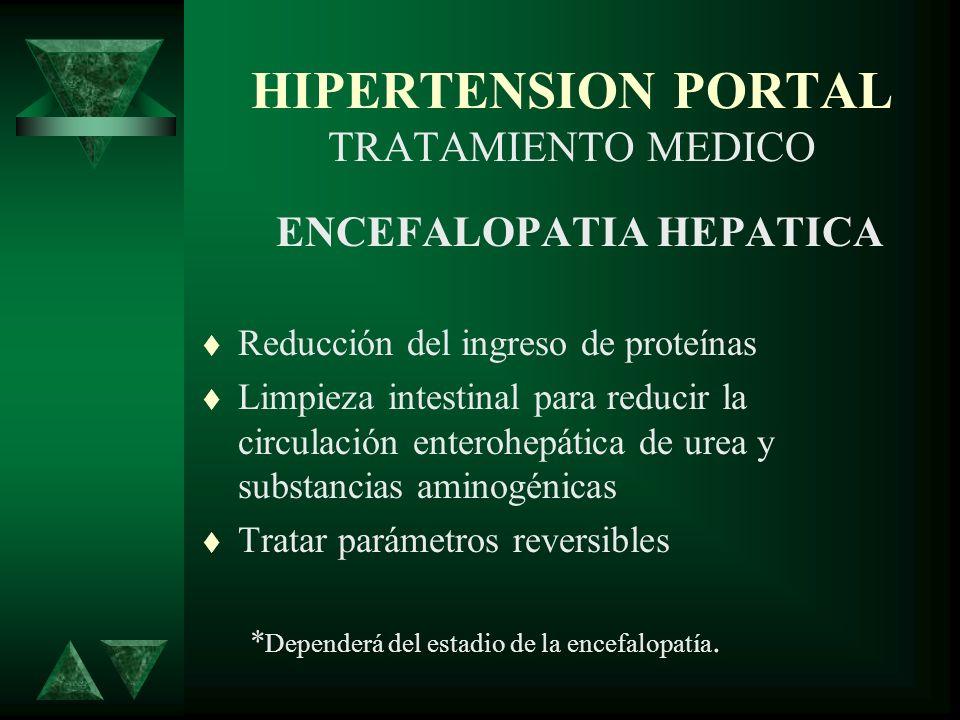 HIPERTENSION PORTAL TRATAMIENTO MEDICO