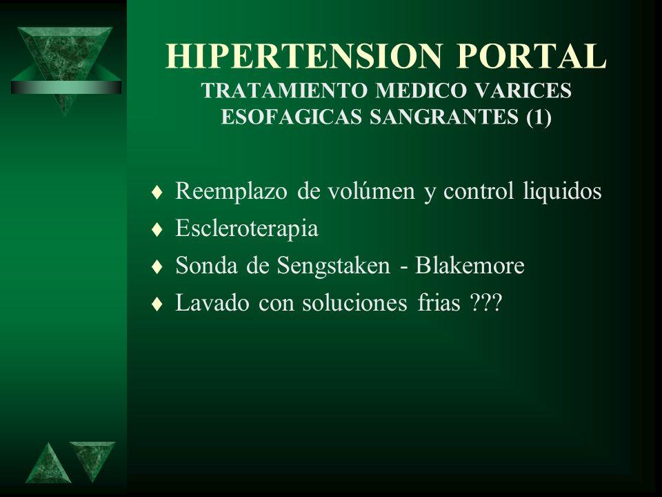HIPERTENSION PORTAL TRATAMIENTO MEDICO VARICES ESOFAGICAS SANGRANTES (1)