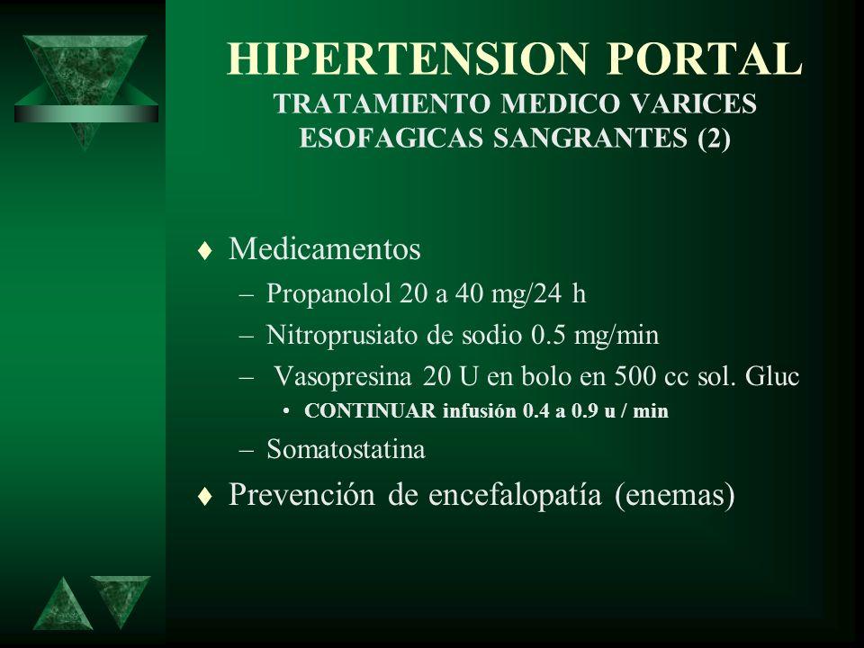 HIPERTENSION PORTAL TRATAMIENTO MEDICO VARICES ESOFAGICAS SANGRANTES (2)