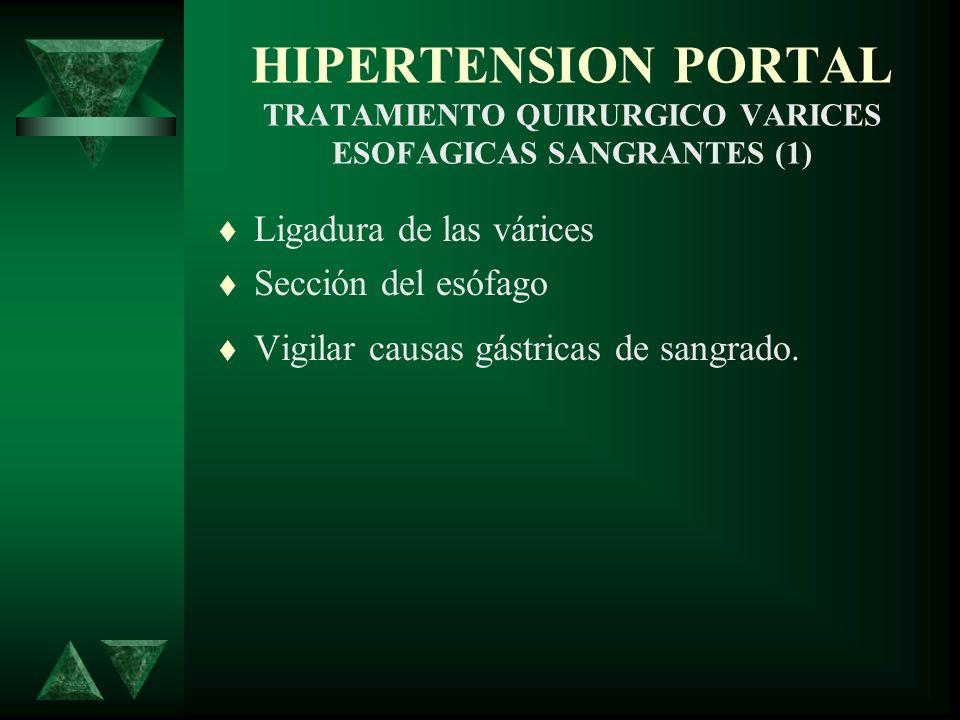 HIPERTENSION PORTAL TRATAMIENTO QUIRURGICO VARICES ESOFAGICAS SANGRANTES (1)