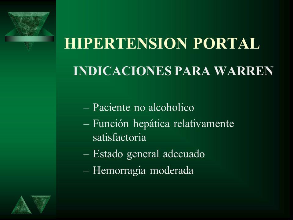INDICACIONES PARA WARREN