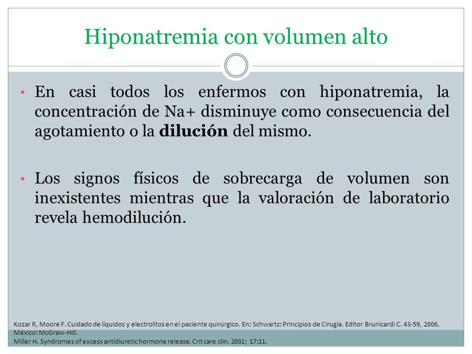 Hiponatremia con volumen alto