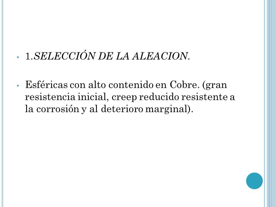 1.SELECCIÓN DE LA ALEACION.