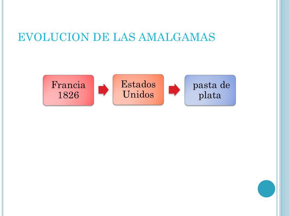 EVOLUCION DE LAS AMALGAMAS