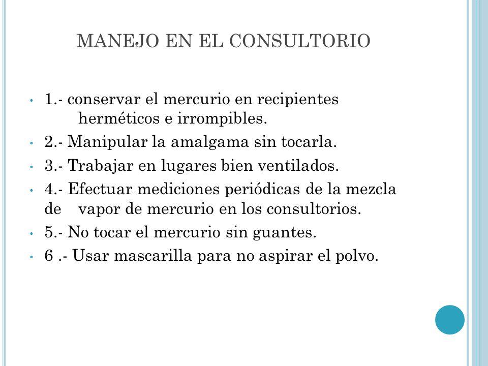 MANEJO EN EL CONSULTORIO