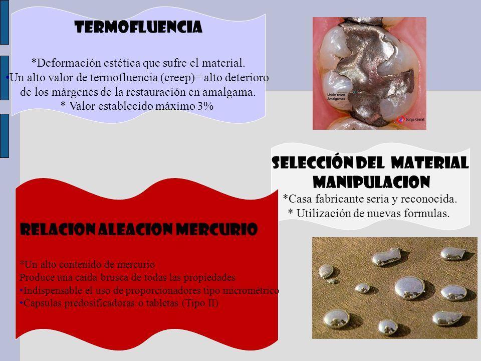 SELECCIÓN DEL MATERIAL MANIPULACION